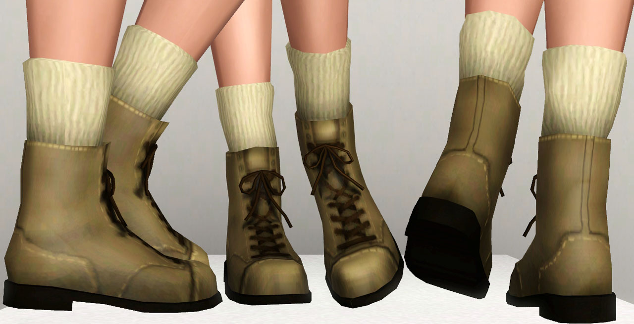 Mod The Sims - Boots 3Dsockified for A/YA/T females!