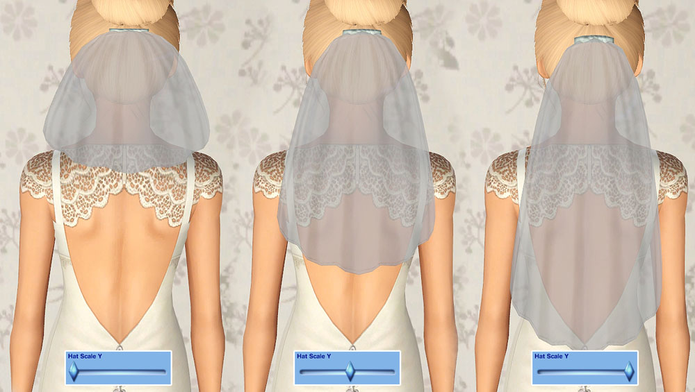 Mod The Sims - Wedding Bliss - 3 Wedding Veil Accessories
