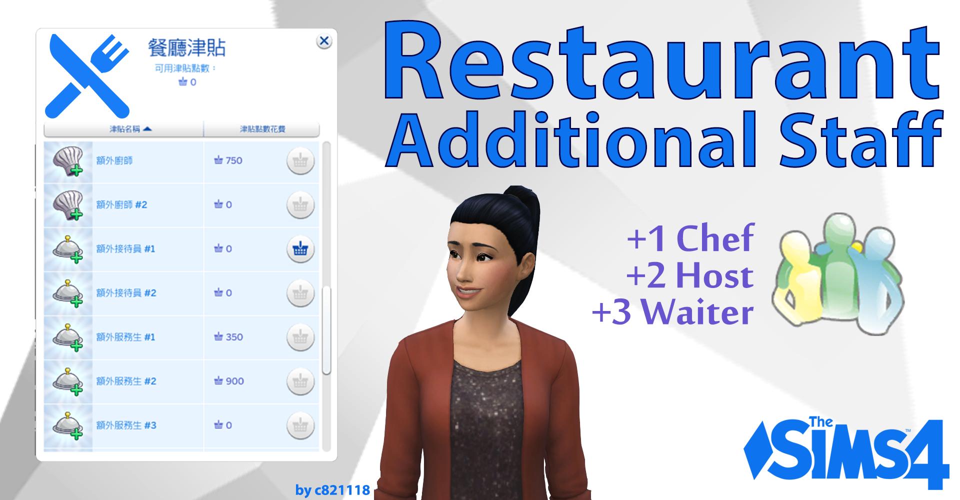 Мод Ресторан Дополнительный Персонал