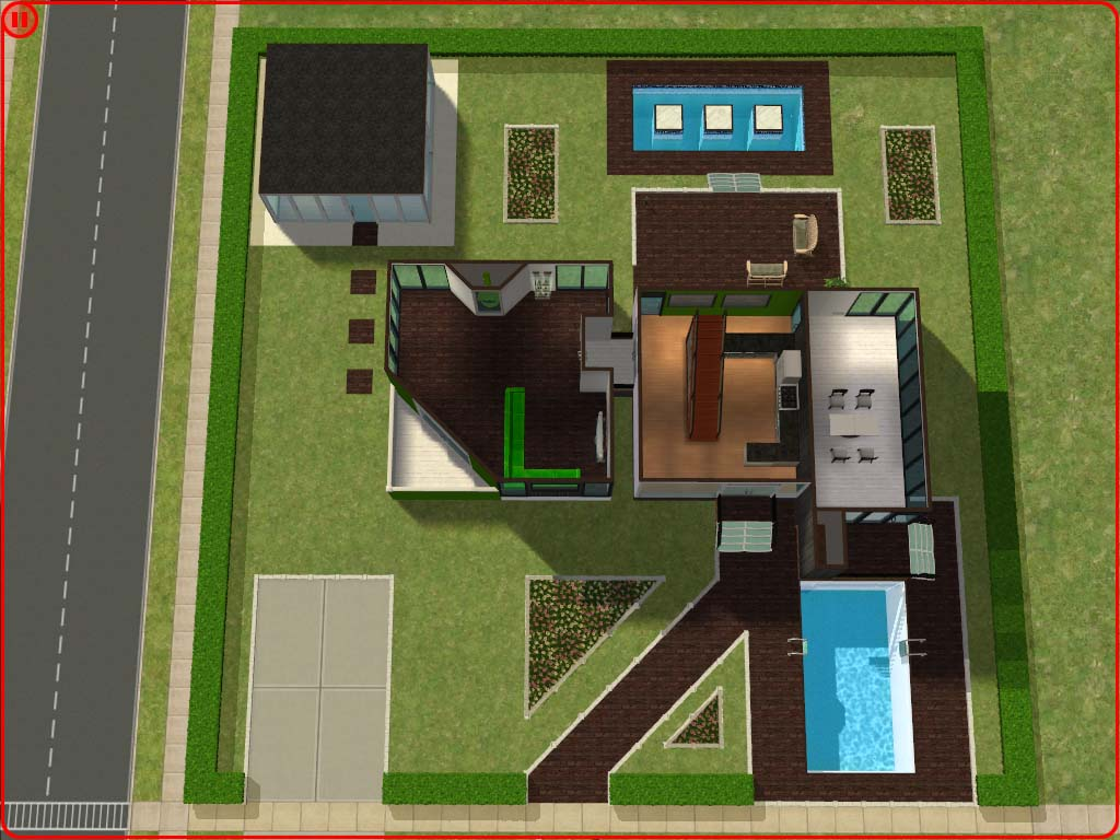Mod the sims ultra modern house for Modern house ep 9