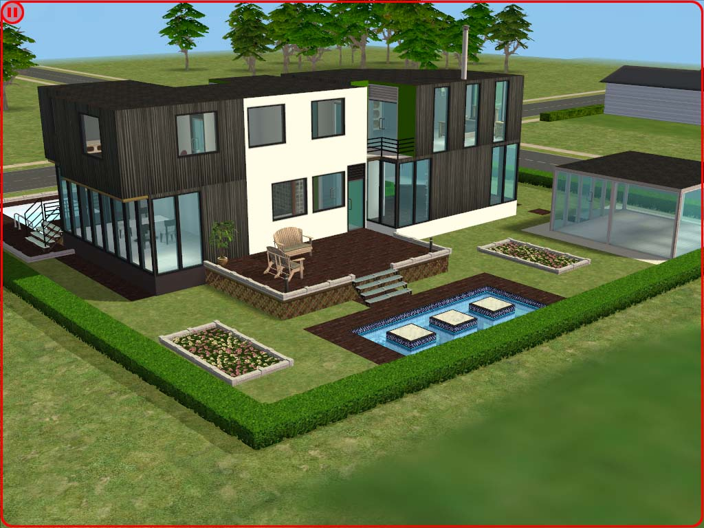 Mod the sims ultra modern house for Classic house sims 3