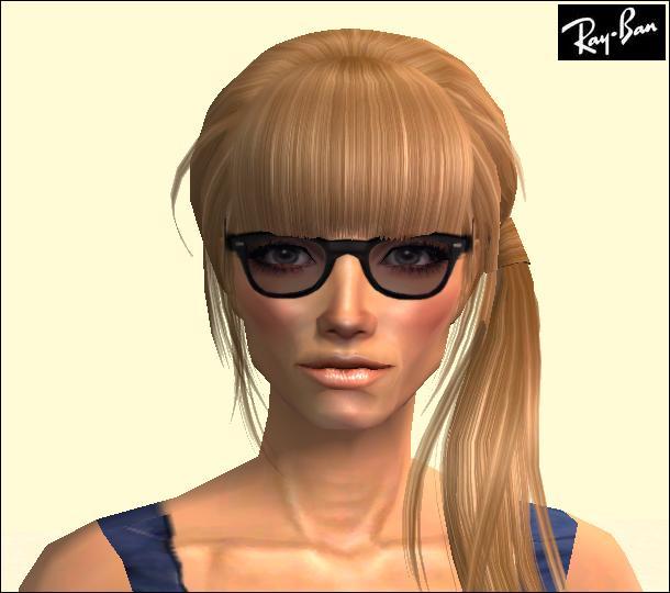 ray ban classic wayfarer black  Mod The Sims - Ray-Ban Wayfarer (Classic Black) Styled Glasses ...