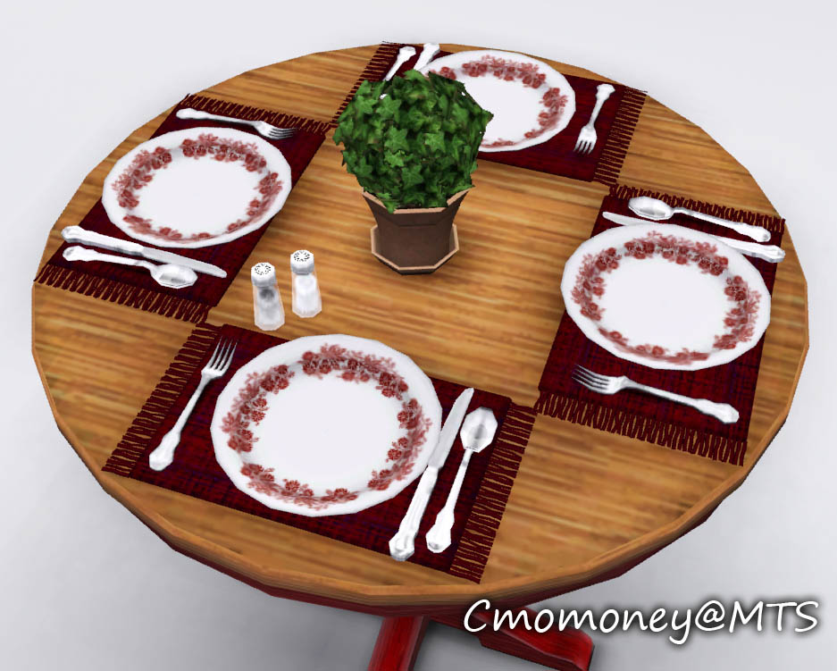 Mod The Sims Updated Dining Table Clutter
