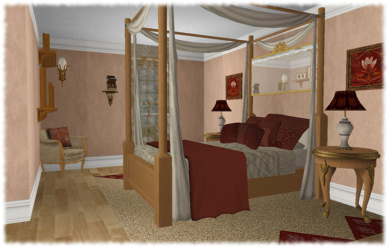 old fashioned master bedroom or another bedroom