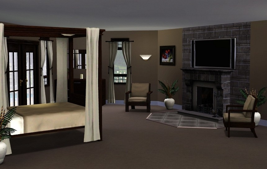 Mod the sims woodlawn estate for Bedroom designs sims 4
