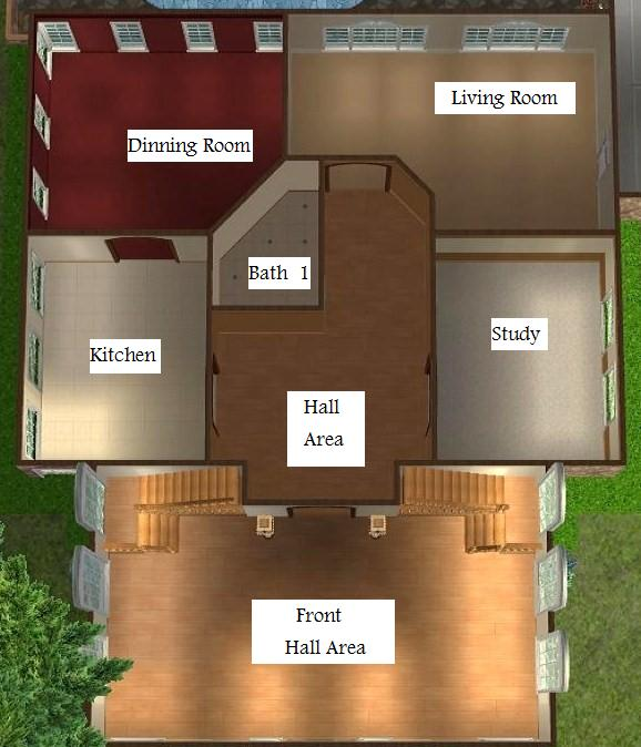 Mod the sims eco friendly mansion for Mansion floor plans sims 4