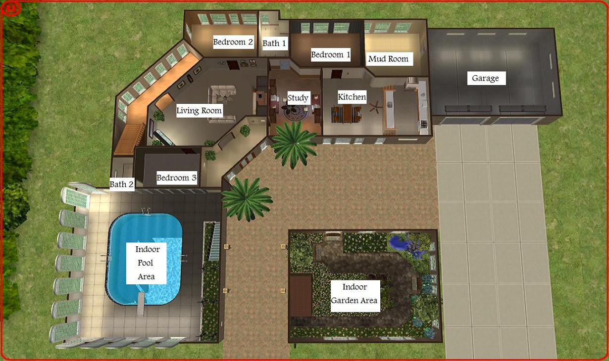 Mod the sims dreamy mansion for Mansion floor plans sims 4