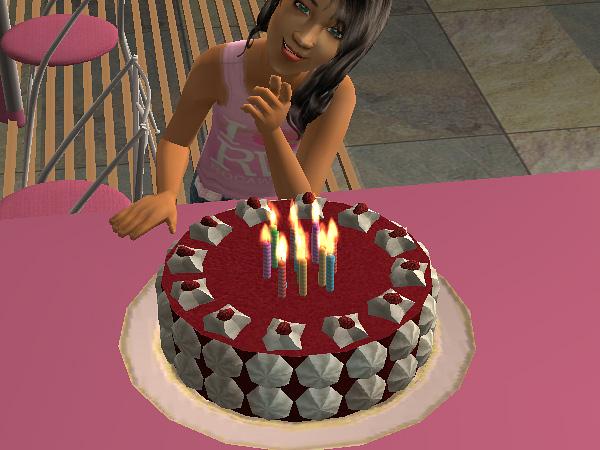 Sims  Birthday Cake Object