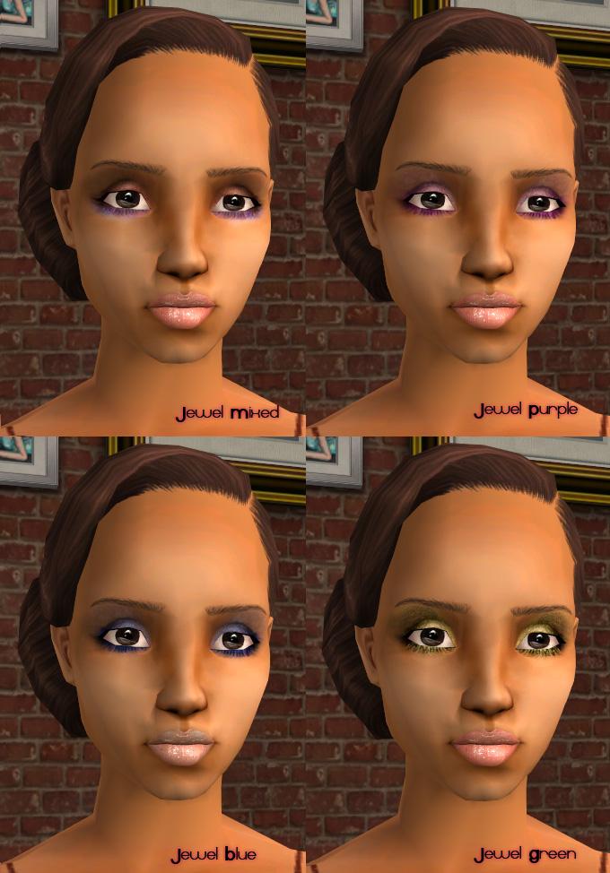 Mod The Sims - Natural Makeup Set - 8 Eyeshadows, 3 Lipcolors, 2 ...
