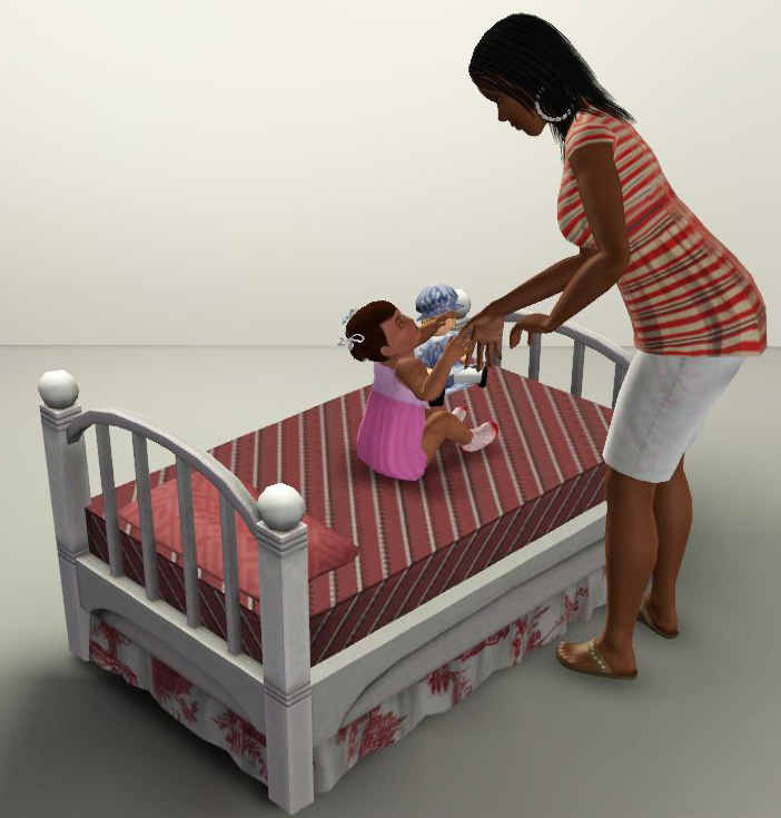 Mod The Sims Sleepy Time Toddler Bed