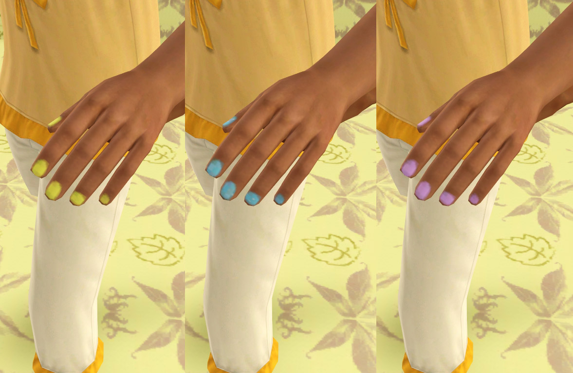 Mod The Sims - REDUX: Painted Nails for the Kiddies