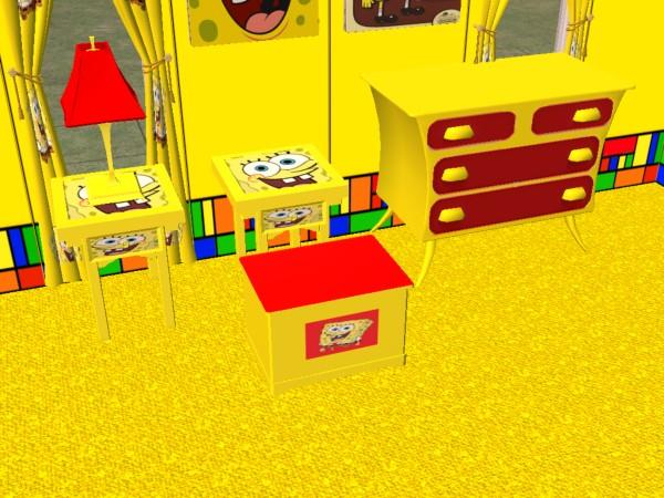 mod the sims complete spongebob bedroom set