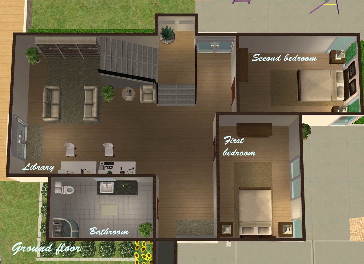 Log Homes Floor Plans Mod The Sims Quot Nalucia Quot A Modern Family House