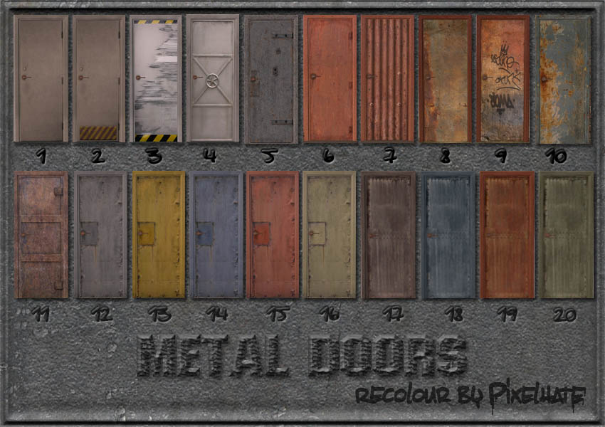 Mod The Sims 20 Metal Door Recolor