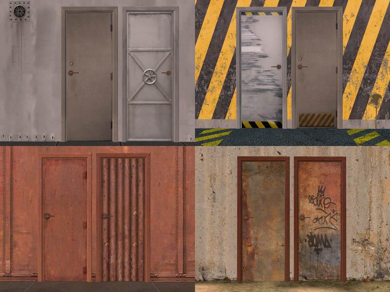 Mod The Sims 20 Metal Door Recolor