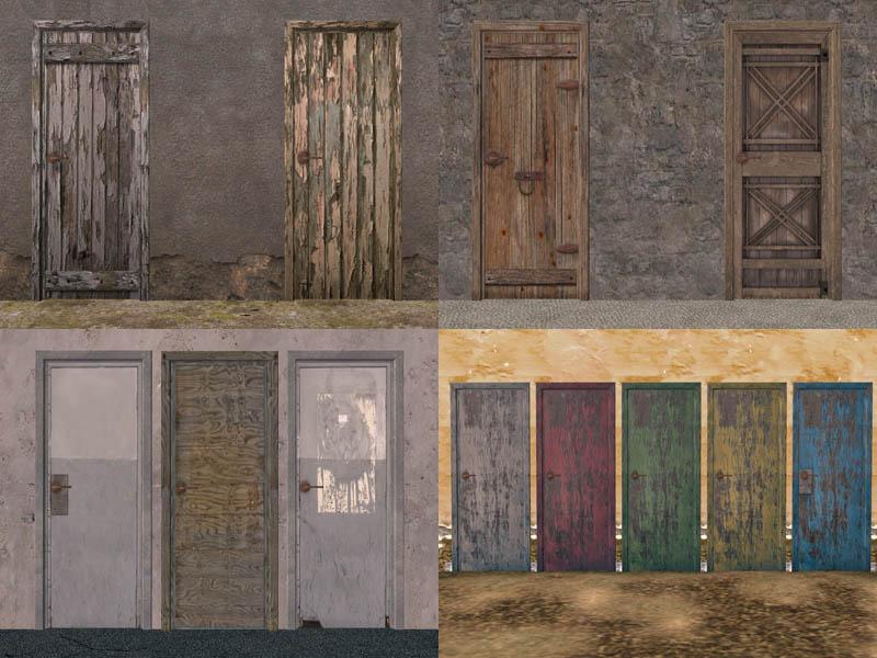 Mod The Sims 20 Wood Door Recolor