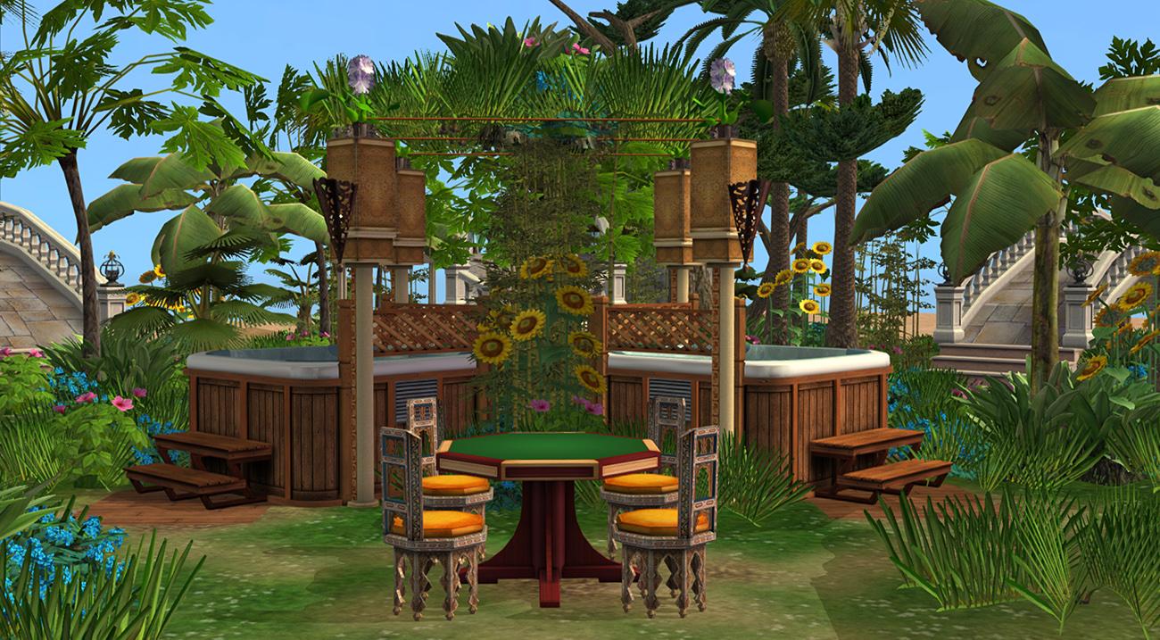 Mod The Sims - Tropical Garden (no CC)