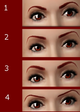 mod the sims classic arched eyebrows for the ladies