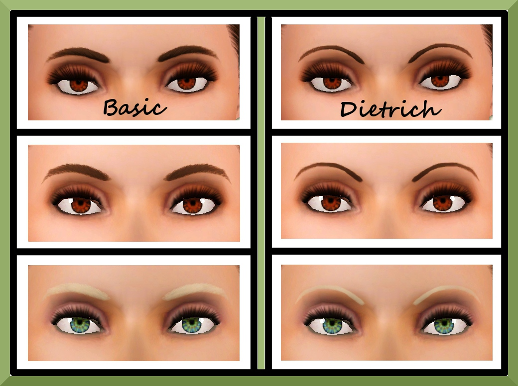 Mod The Sims Updateea Female Eyebrows Overhaul Teen Through