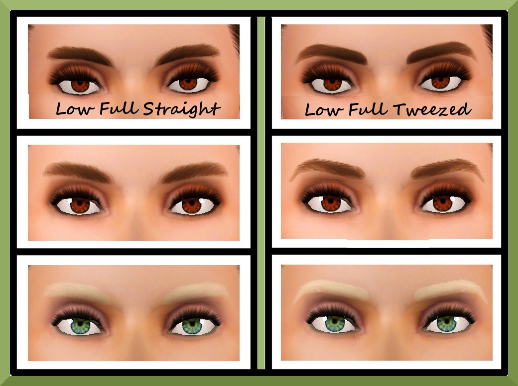 Sims 4 Bushy Eyebrows Female | hairstylegalleries.com