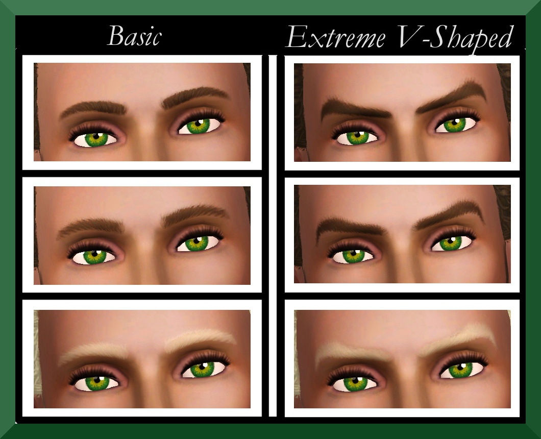 Mod The Sims Ea Eyebrows Male Teen Elder Redone Non Default And