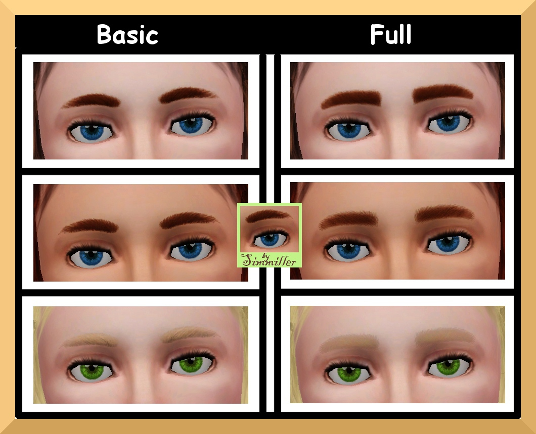 Mod The Sims Eas Unisex Childrens Eyebrows Redone Non Default