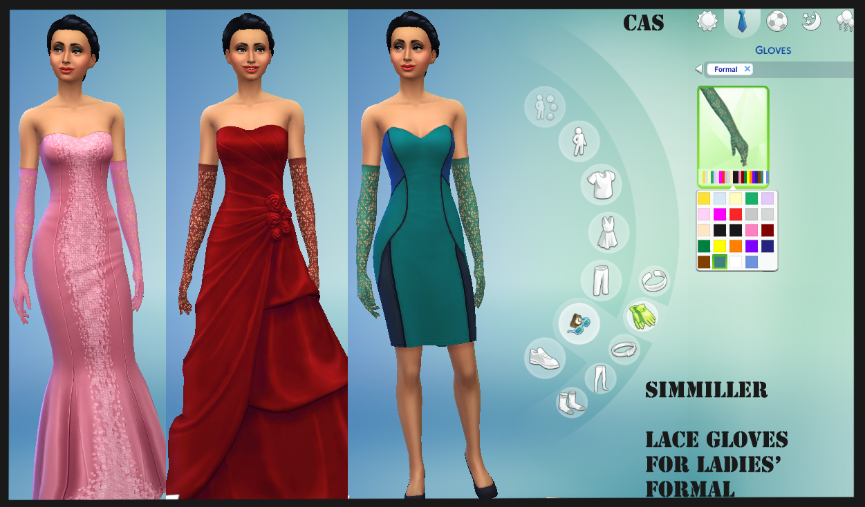 Mod The Sims - Lace Gloves for the Ladies