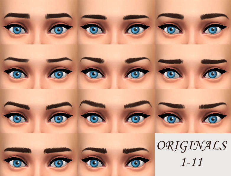 Mod The Sims Female T E Maxis Eyebrows Redone Non Default And