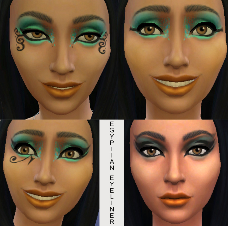 Mod The Sims 10 Egyptian Eyeliners In Black For Males