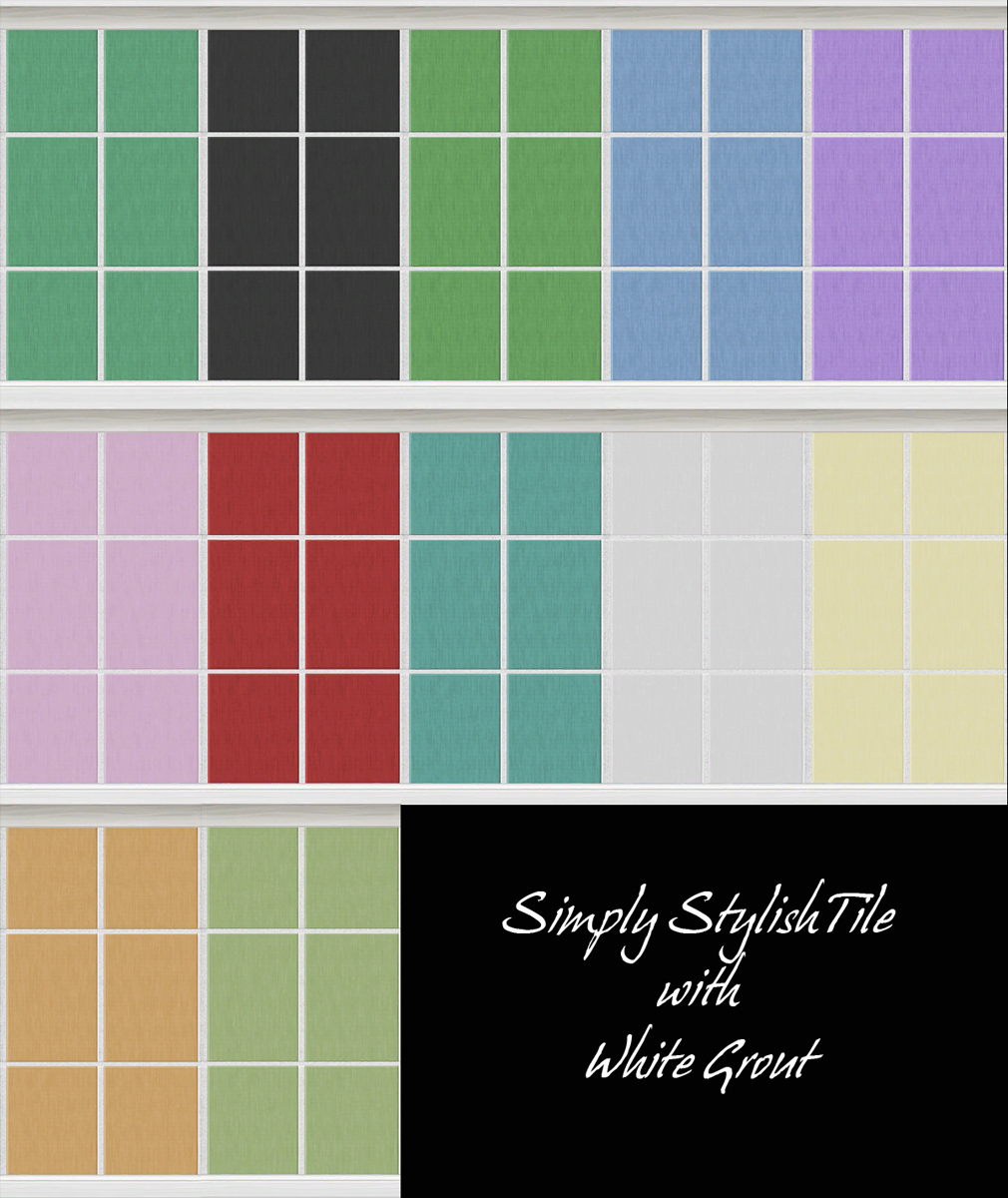 Mod The Sims - Wall Tiles - Simply Stylish in 2 Versions