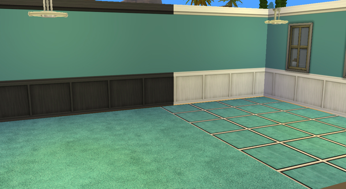 Advertisement: - Mod The Sims - Black Wood And White Wood Paneling To Match Plush