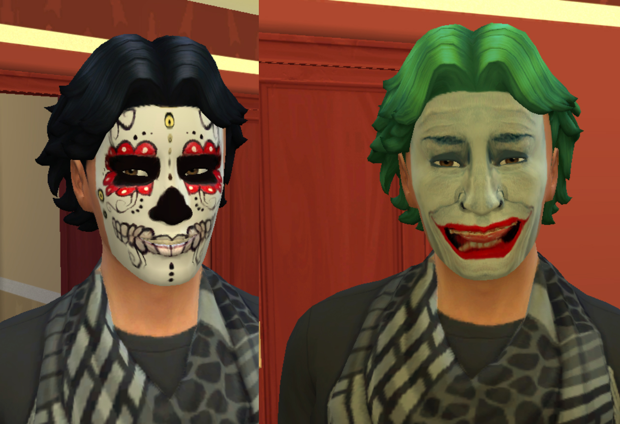 Mod The Sims - Halloween Face Paint for Males and Females Teen ...