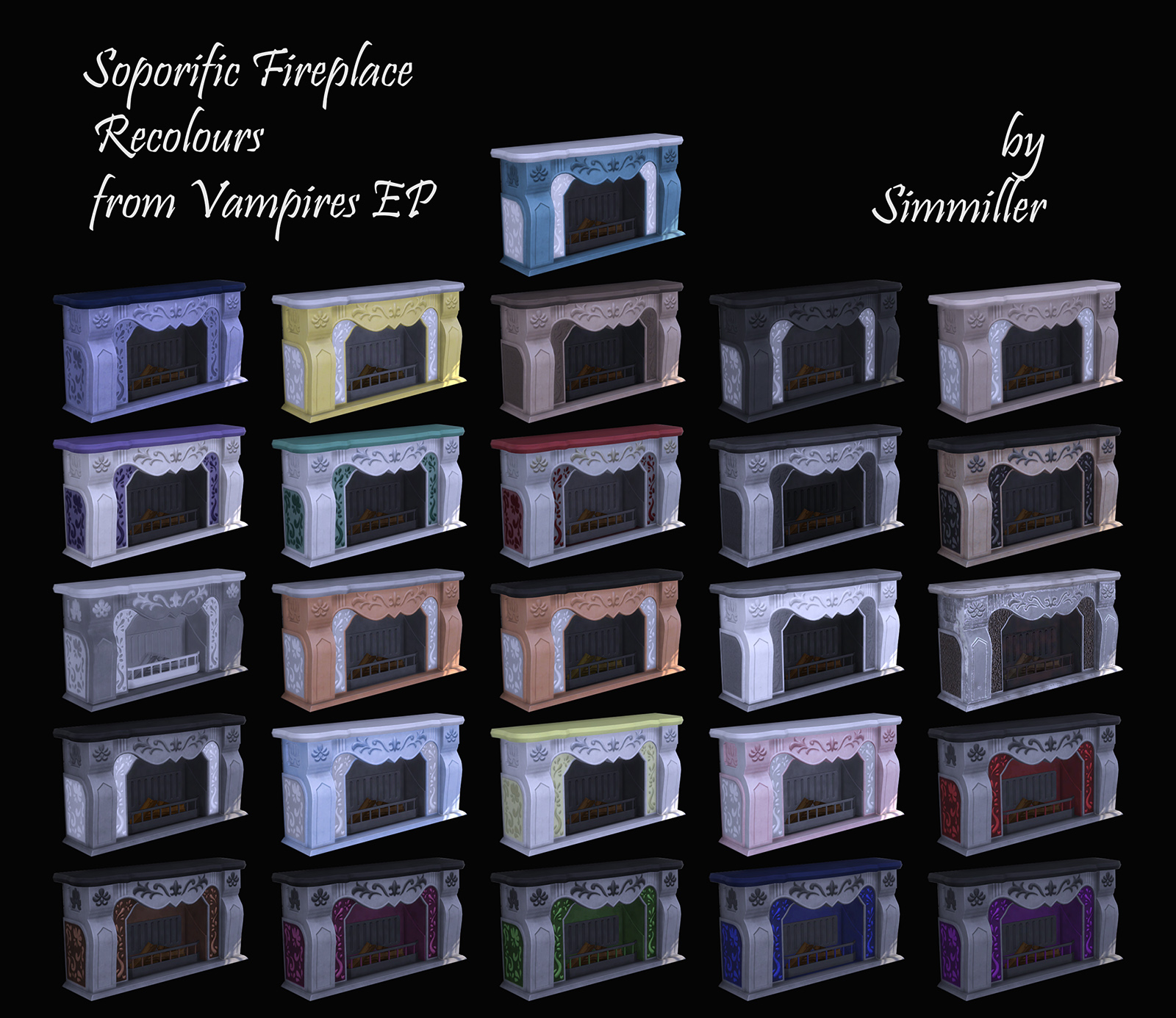 Mod The Sims - Soporific Fireplace from Vampires GP - Recolours