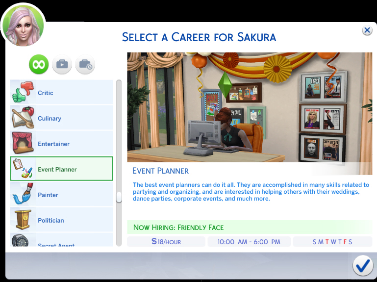 Mod The Sims - Event Planner Career