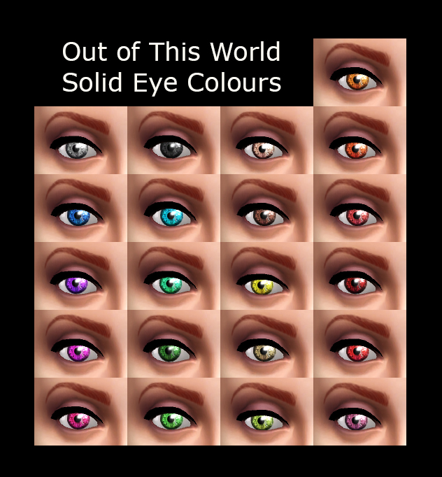 Mod The Sims - Out of This World Eyes - Actual Eye Colour and/or