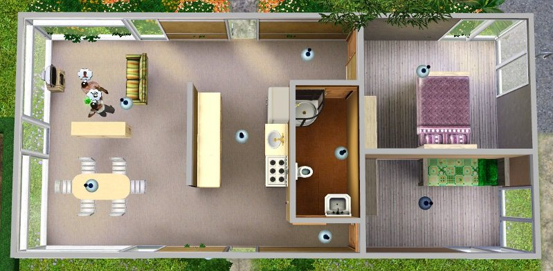 Mod the sims modest mini home by jeffrey mckean a 2 for Small starter homes