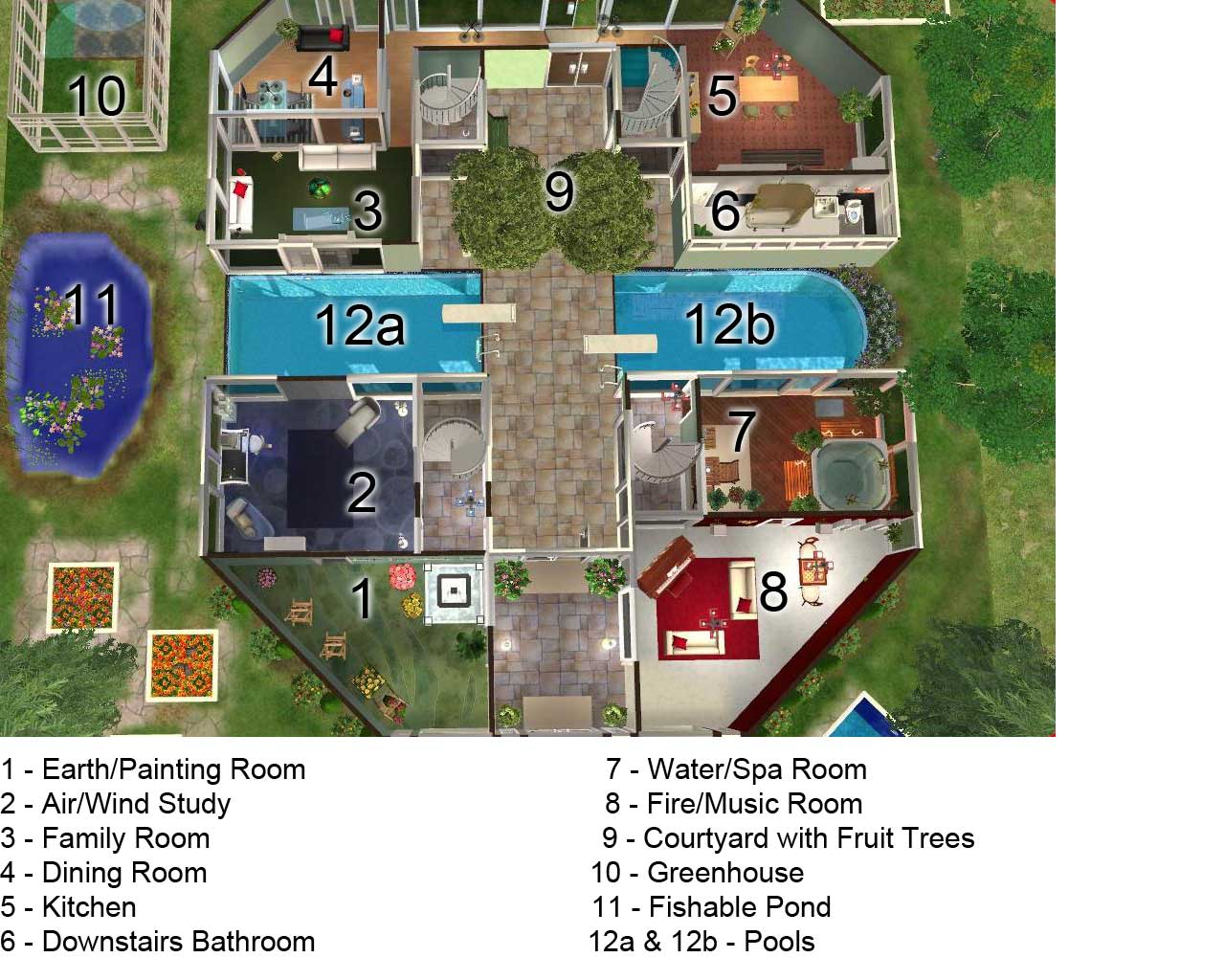 Sims 3 mansion floor plans the image for Mansion floor plans sims 4