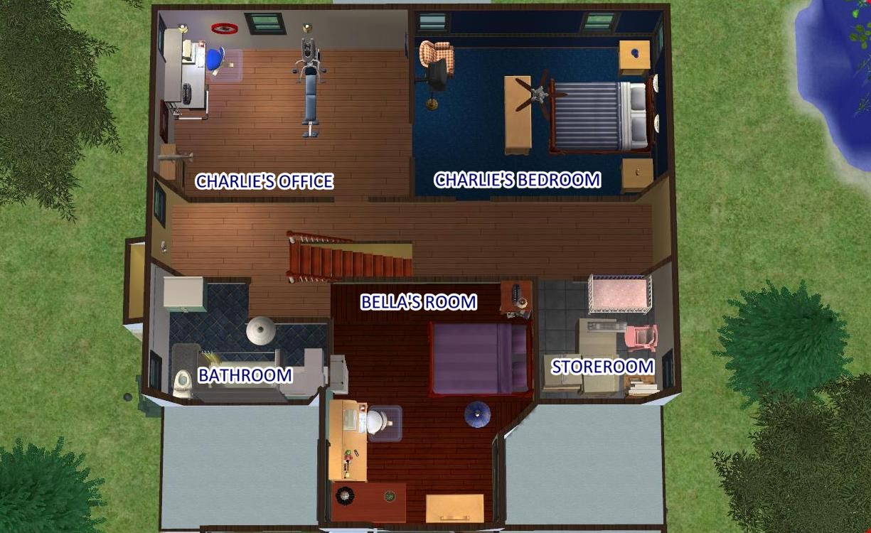 House From Twilight mod the sims - swan house from twilight - furnished and unfurnished