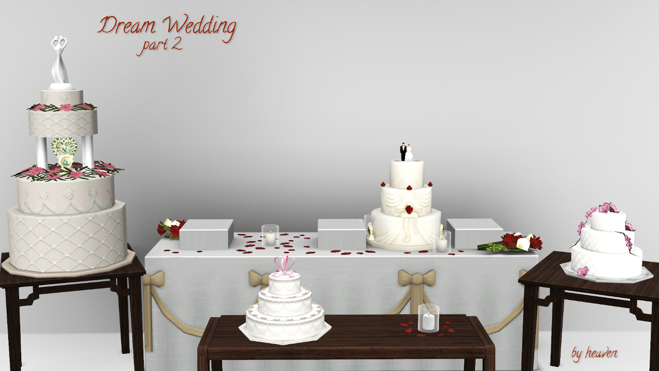 Mod The Sims Dream Wedding Cakes