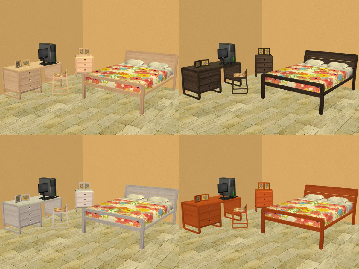 Mod the sims bb 39 s emma bedroom dining set in pooklet for K michelle bedroom furniture