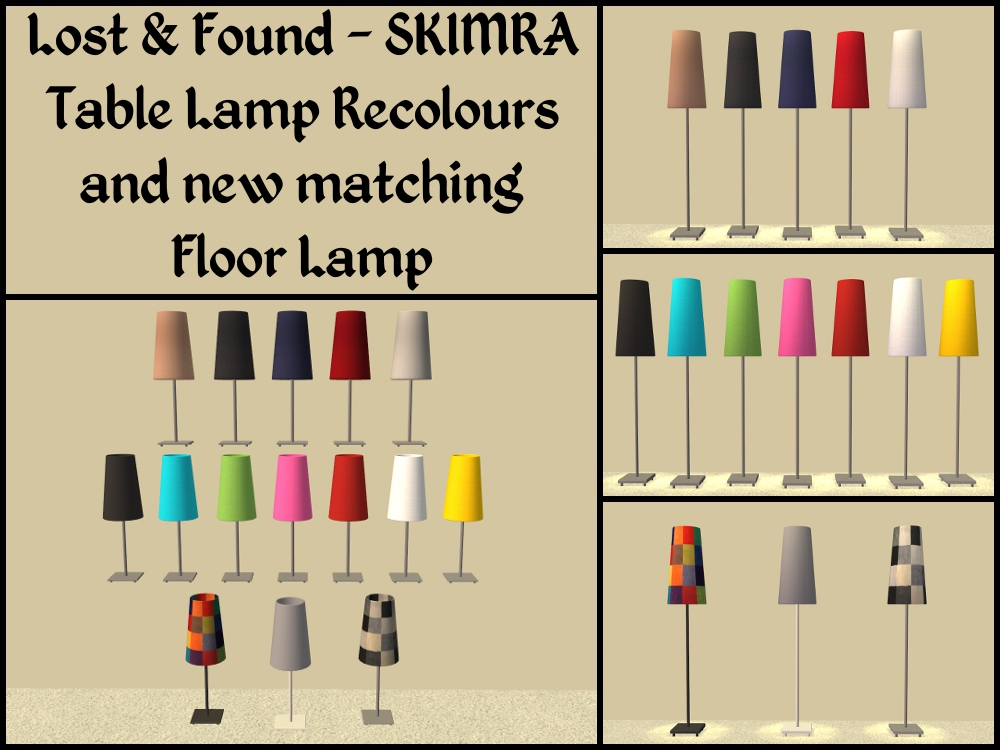 Mod The Sims Lost Amp Found Skimra Lamp Recolours