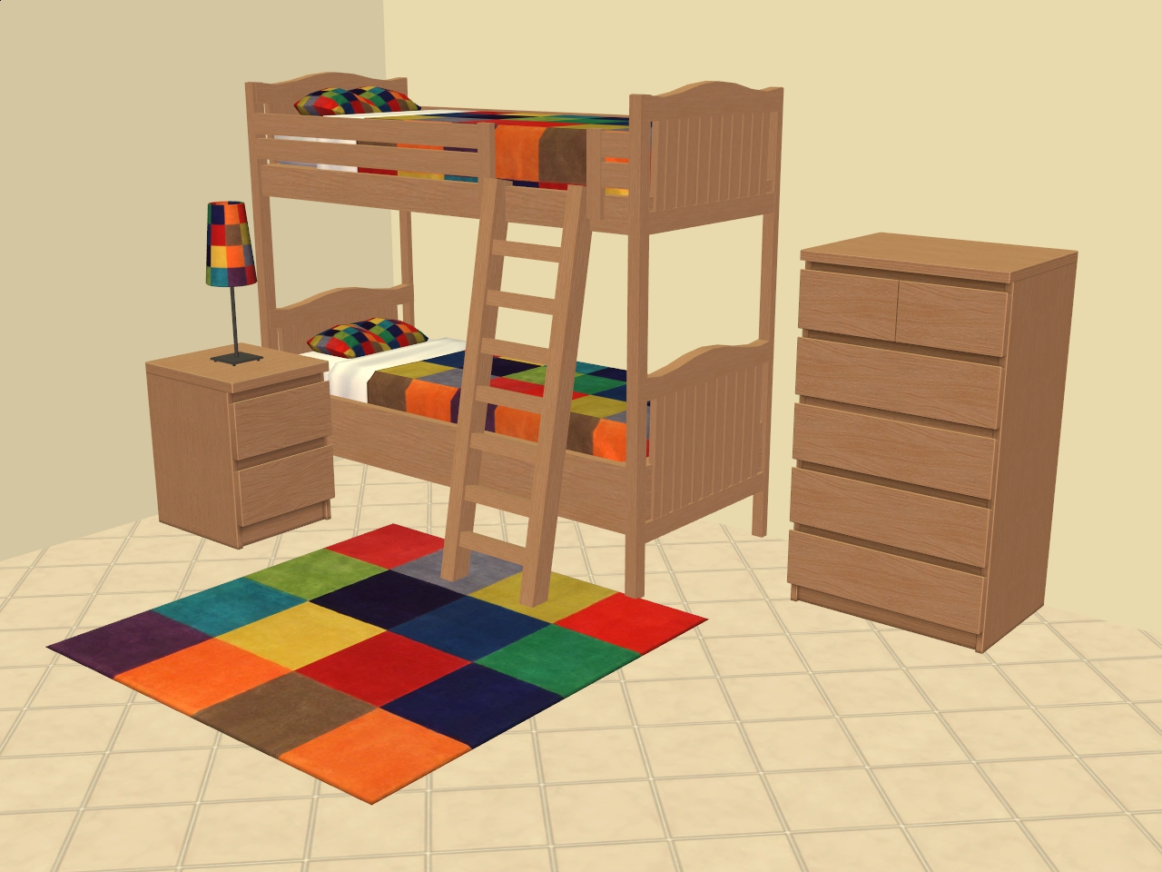 Mod the sims hope baylor 39 s nantucket bunk beds malm for Mods sims 4 muebles