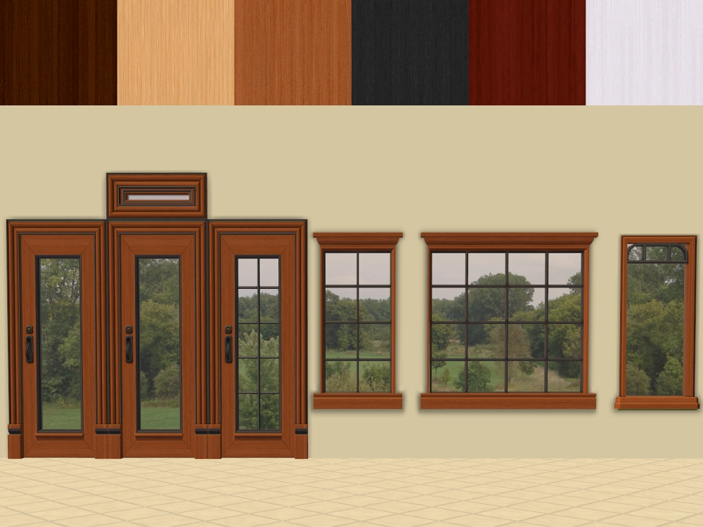 x & Mod The Sims - OFB Euro Door and Window Recolours