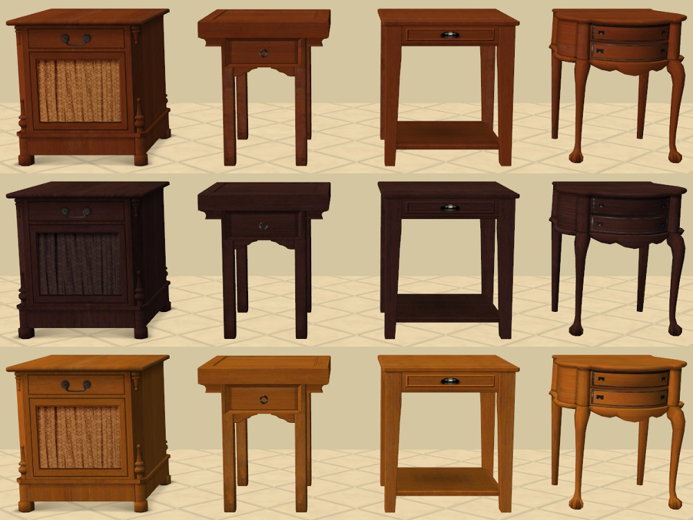 4 Base Game End Tables Recoloured