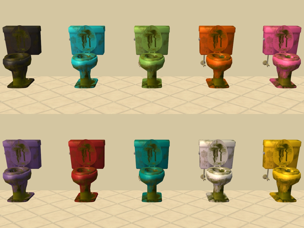 Mod The Sims Base Game Bathroom Object Recolours