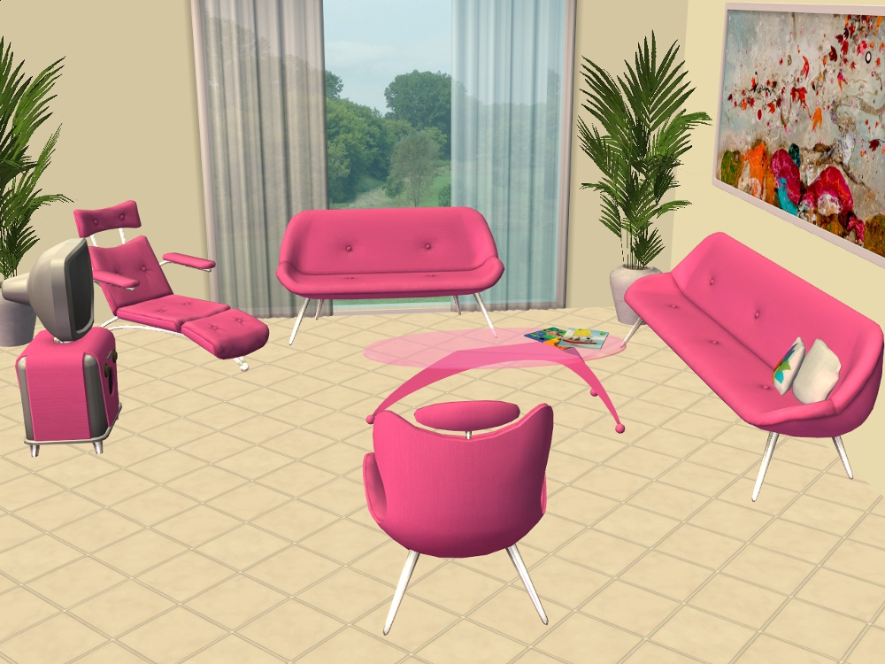 Mod The Sims - Pets Furniture LACK Colours - Part 3 - Living Room