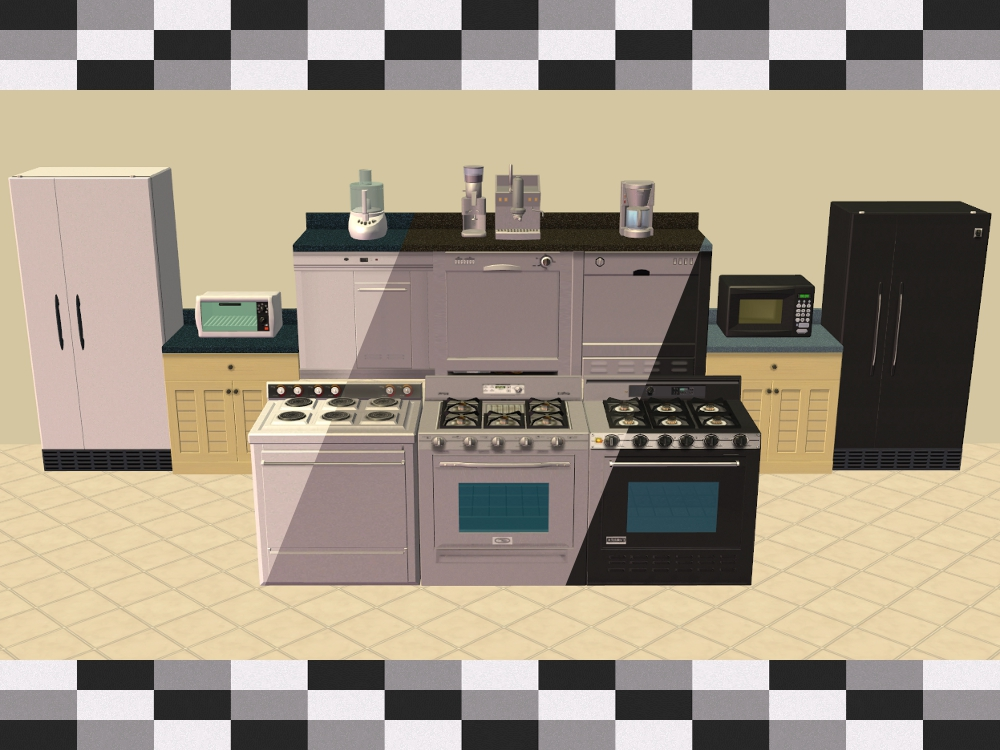 Mod The Sims - Base Game Kitchen Appliance Recolours Kitchen Stove Game on kitchen radio, kitchen shower, kitchen knife, kitchen spatula, kitchen blender, kitchen funnel, kitchen whisk, kitchen burner parts, kitchen ladle, kitchen foot stool, kitchen pans, kitchen mixer, kitchen compactor, kitchen lighter, kitchen downdraft, kitchen toaster, kitchen curtains,