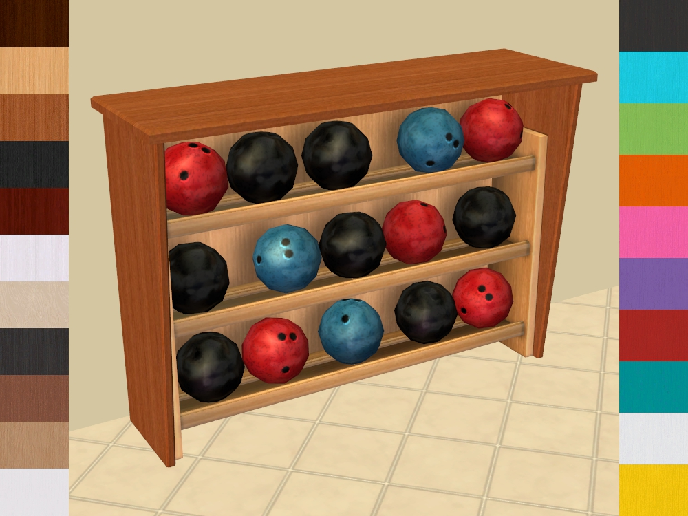 Mod The Sims Rackmaster 40 Bowling Ball Rack Recolours Cool Bowling Ball Display Stand