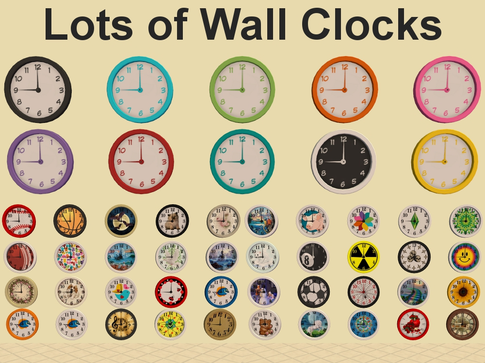 Mod The Sims Lots Of Wall Clocks