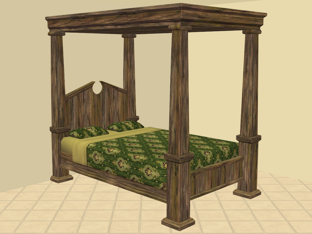 mod the sims federal bed rustic medieval recolours